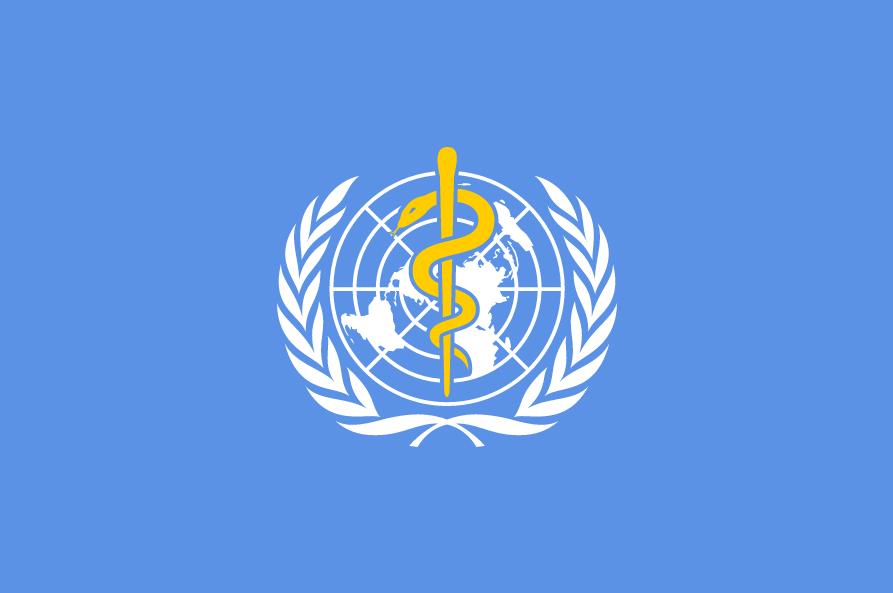 The World Health Organization flag. Credit: World Health Organization.