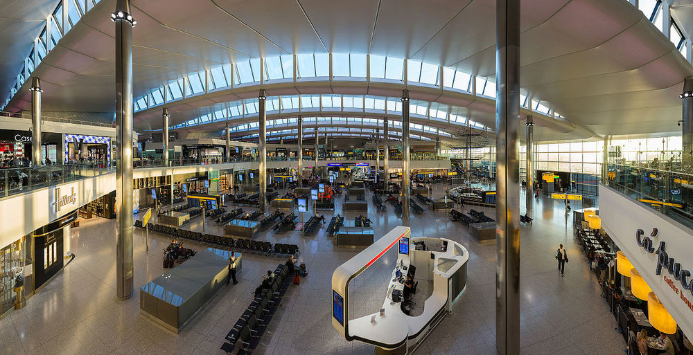 Terminal 2 at London's Heathrow Airport. Credit: Wikimedia Commons.