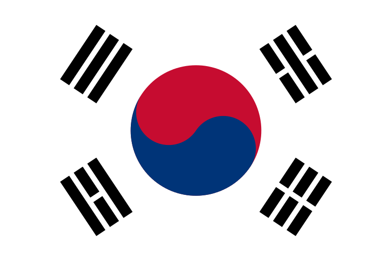 The flag of South Korea. Credit: Wikimedia Commons.