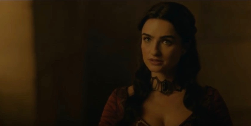 "Ania Bukstein as the Red Priestess Kinvara on ""Game of Thrones."""