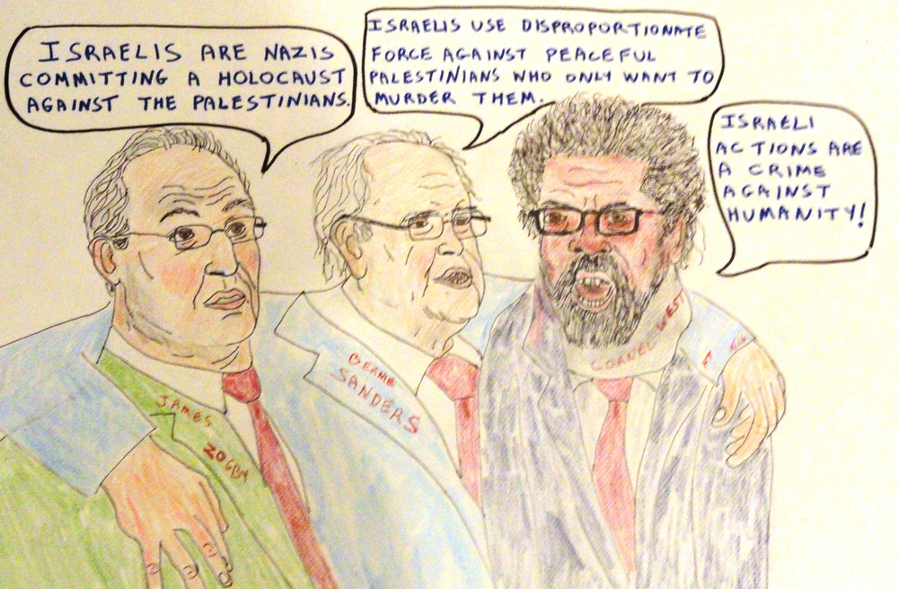 """The all-new pro-peace, pro-Israel Democratic platform,"" the latest illustration from FeinTooner. Credit: FeinTooner."