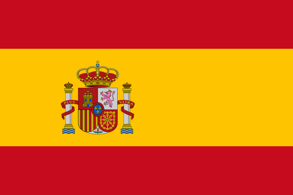 The flag of Spain. Credit: Wikimedia Commons.