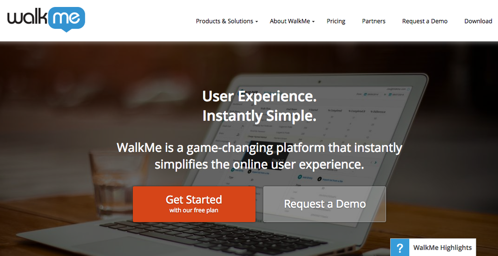 The WalkMe website. Credit: WalkMe.com screenshot.