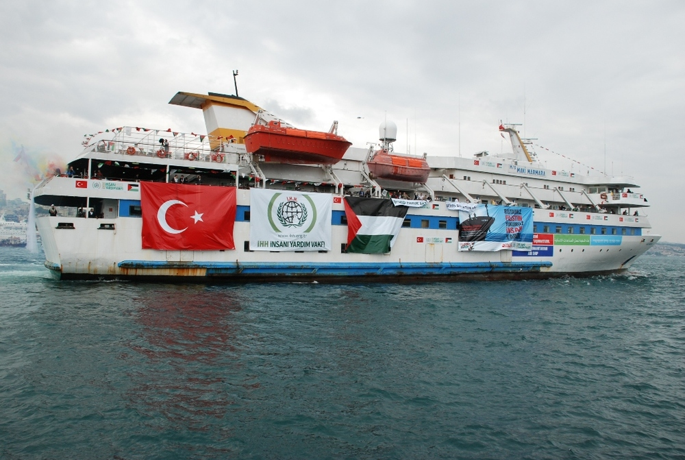 The 2010 Gaza flotilla incident's Mavi Marmara vessel. Credit: Wikimedia Commons.