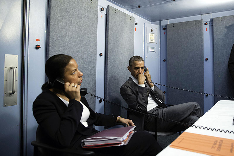 National Security Advisor Susan Rice with President Barack Obama. Credit: Pete Souza/White House.