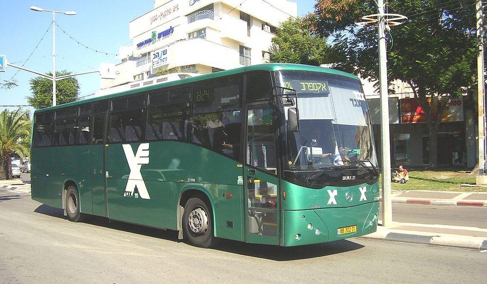 An Israeli Egged bus. Credit: Wikimedia Commons.
