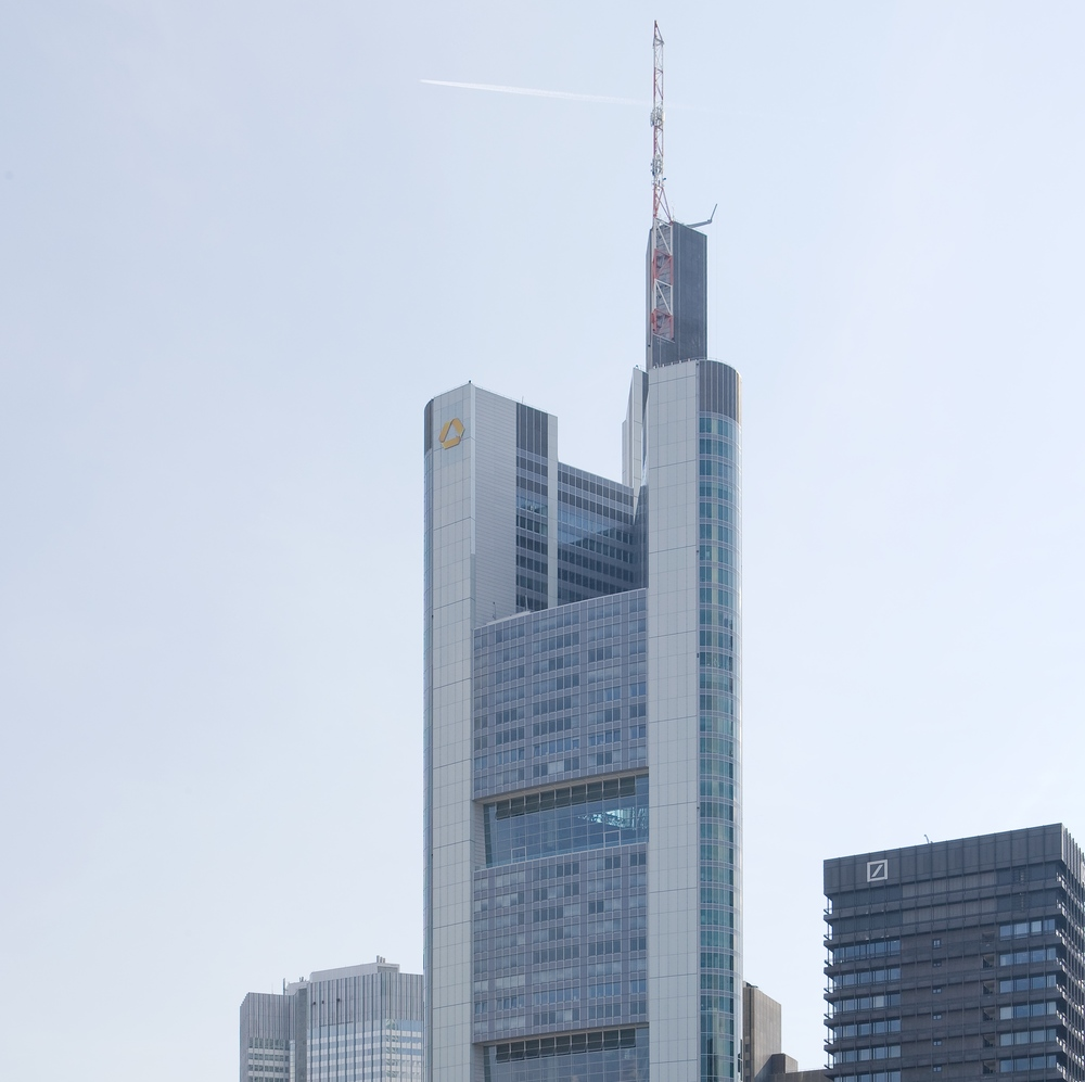 The Commerzbank tower in Frankfurt, Germany. Credit: Wikimedia Commons.