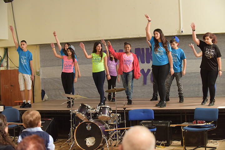 Click photo to download. Caption: A dance performance at the Ahava Village for Children and Youth in northern Israel. Credit: Courtesy Bnai Zion.