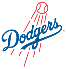 The logo of the Los Angeles Dodgers. Credit: Los Angeles Dodgers.