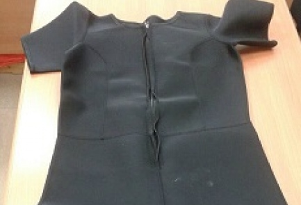 One of the Gaza-bound wet suits intercepted by Israel. Credit: Israeli Defense Ministry.