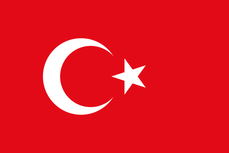 The flag of Turkey. Credit: Wikimedia Commons.