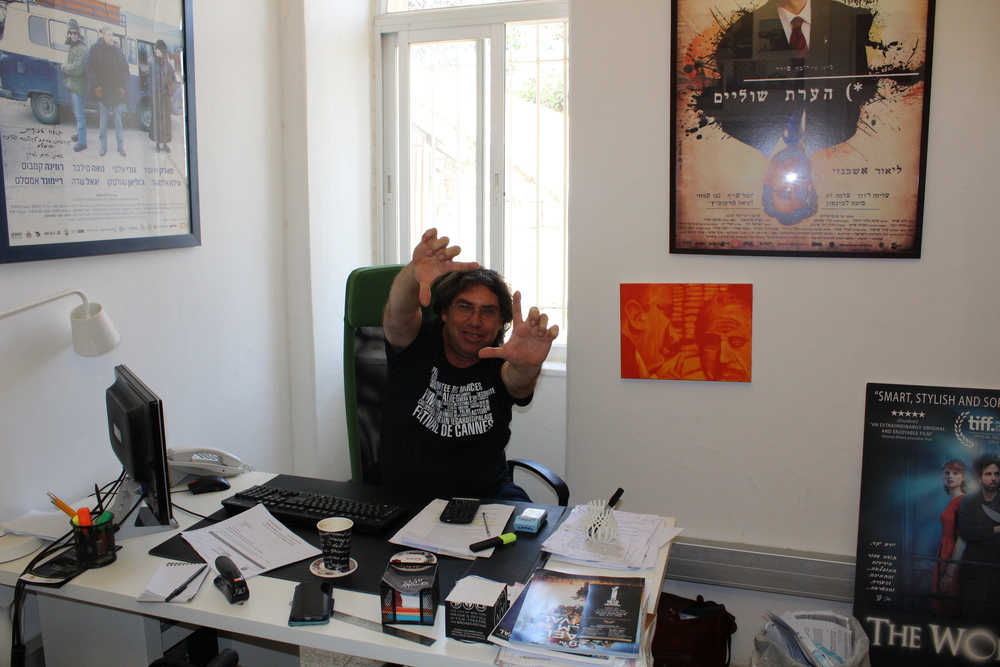 Click photo to download. Caption: Yoram Honig, director of the Jerusalem Film and Television Fund, at his office in Jerusalem's Talbiya neighborhood. Credit: Eitan Arom.