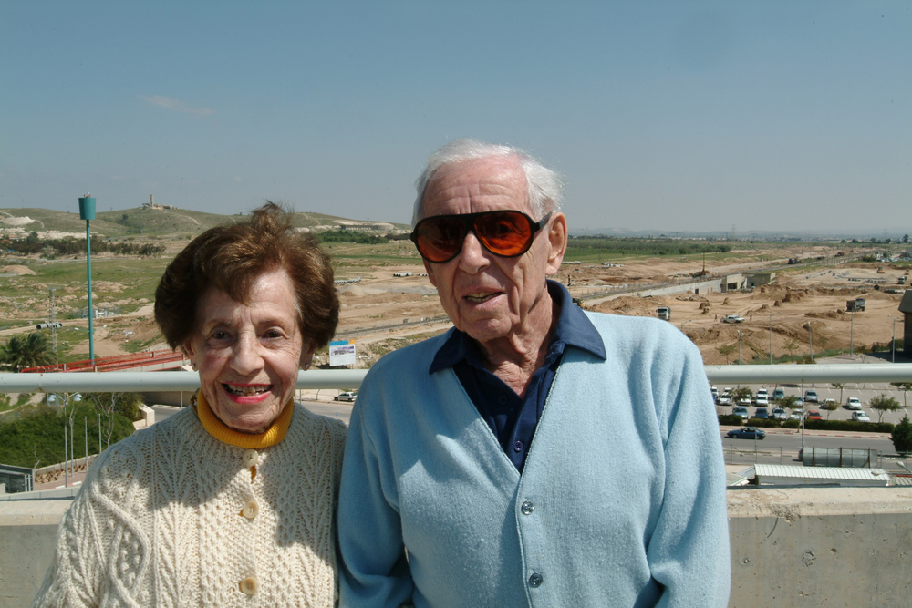 The late Dr. Howard and Lottie Marcus, whose estate donated $400 to Ben-Gurion University of the Negev. Credit: Dani Machlis/BGU.