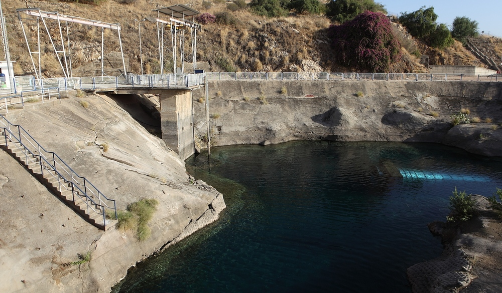 Click photo to download. Caption: The Sapir Pumping Station of Mekorot, Israel's national water company, near Lake Kinneret in northern Israel. Credit: Yaakov Naumi/Flash90.