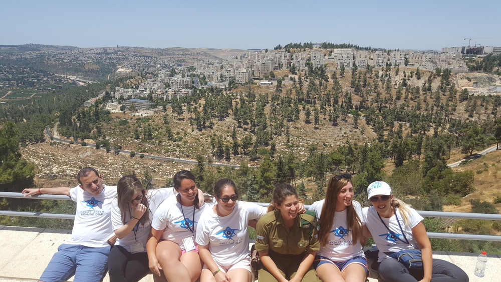 Click photo to download. Caption: Pictured in Jerusalem are participants from this year's American Physicians Fellowship for Medicine trip, a specialized track within the Taglit-Birthright Israel program. Credit: Jonathan Gabriel.