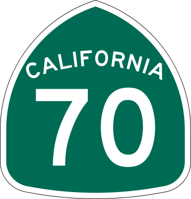A sign for California's Route 70. Credit: Wikimedia Commons.