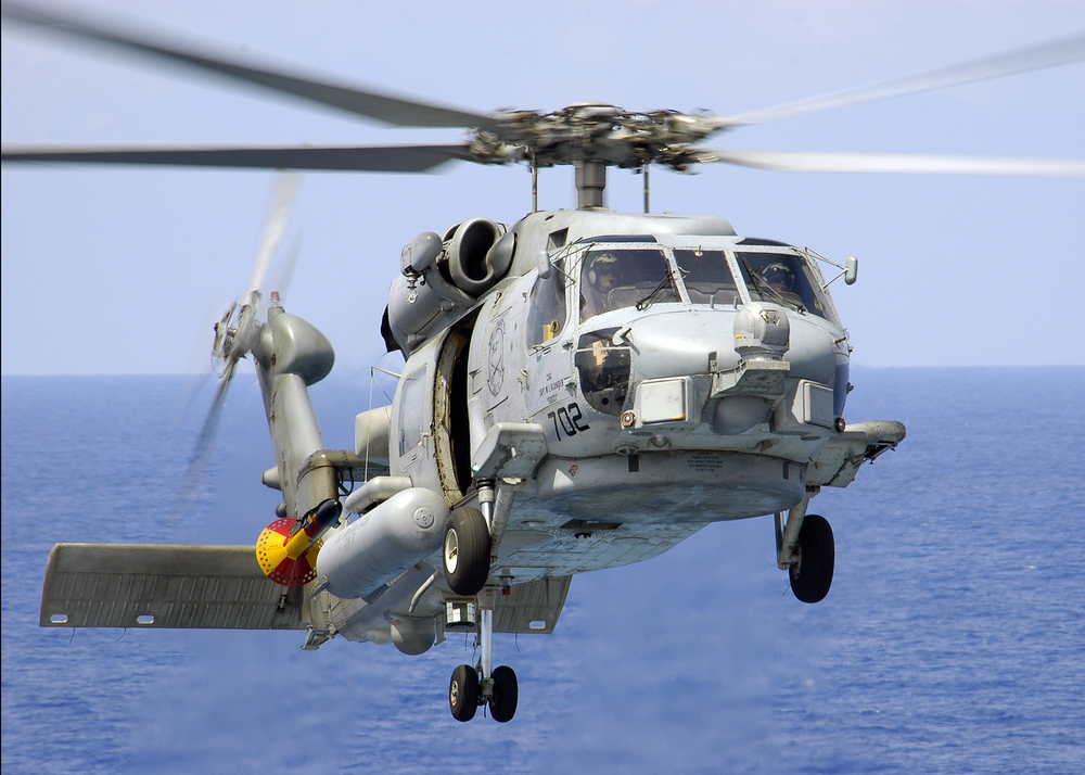 An SH-60F Seahawk helicopter. Credit: Navy photo by Photographer's Mate Airman James R. Evans (RELEASED).