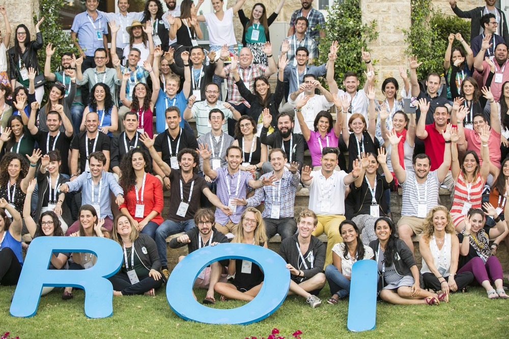 "The ""changemakers"" who recently gathered in Jerusalem for the 2016 ROI Summit. Credit: Snir Katzir."