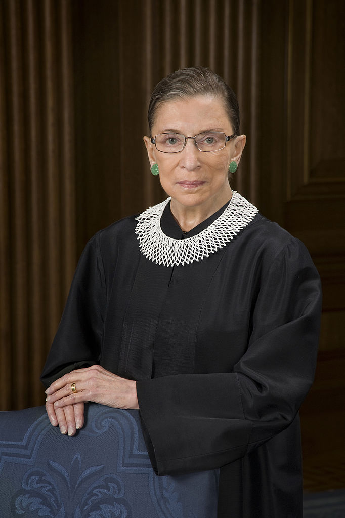 U.S. Supreme Court Justice Ruth Bader Ginsburg. Credit: Steve Petteway/Collection of the Supreme Court of the United States via Wikimedia Commons.