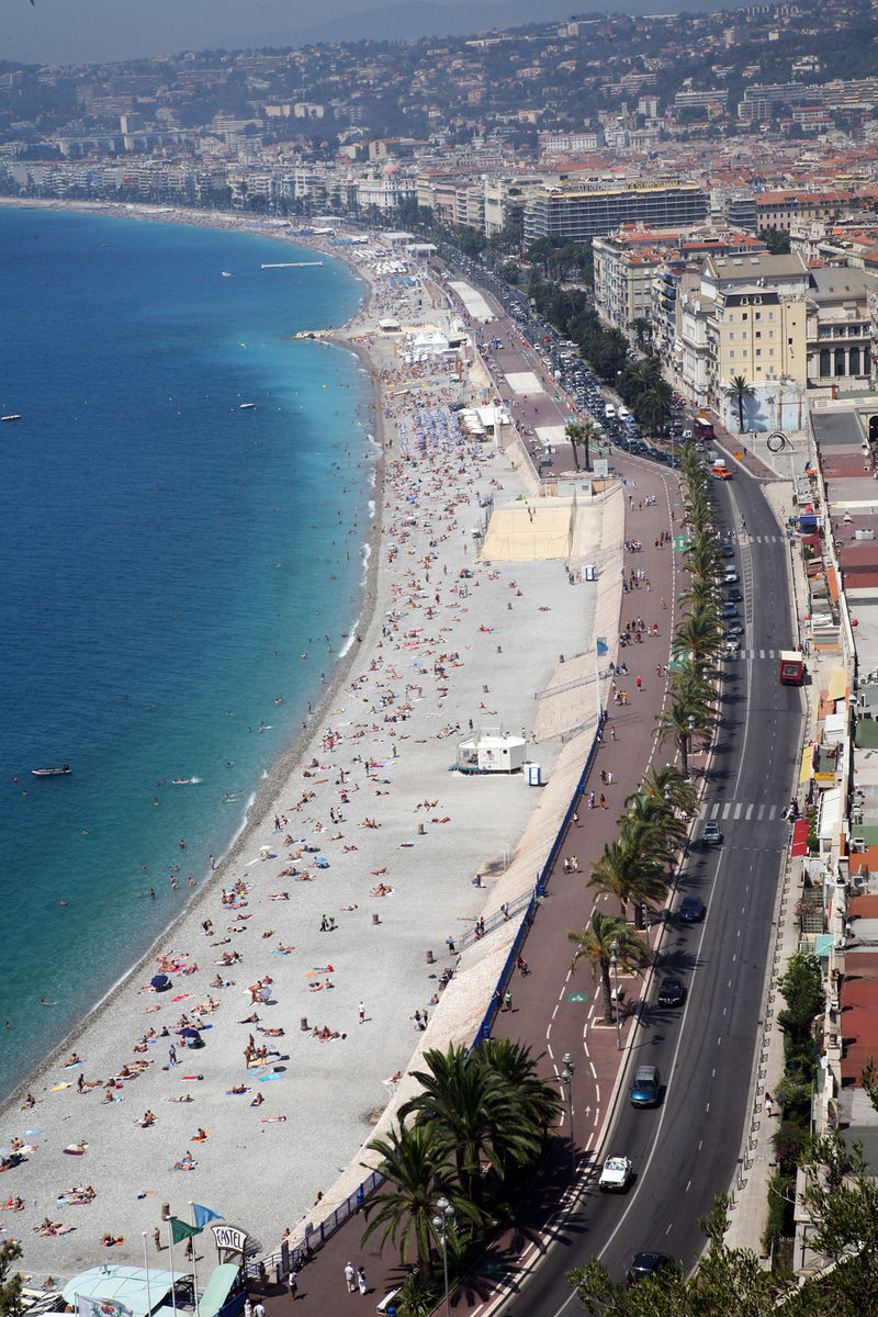 The beach promenade in Nice, France where the terror attack occurred on Thursday night. Credit: Wikimedia Commons.