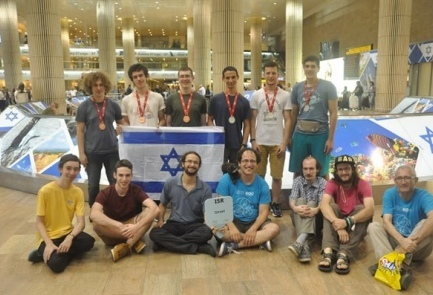 Israel's participants at the Mathematical Olympiad in Hong Kong sport their medals. Credit: Provided photo.