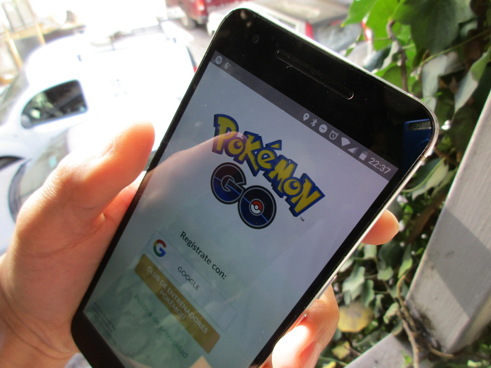Pokémon GO screen. Credit: Eduardo Woo via Wikimedia Commons.