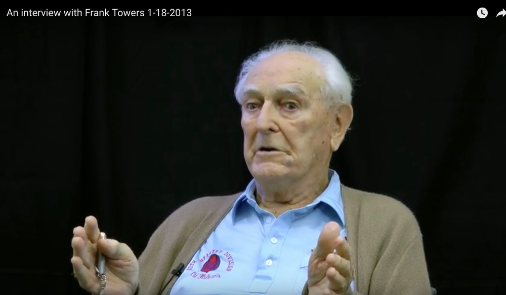 Lt. Frank Winchester Towers in a 2013 interview. Credit: YouTube Screenshot.