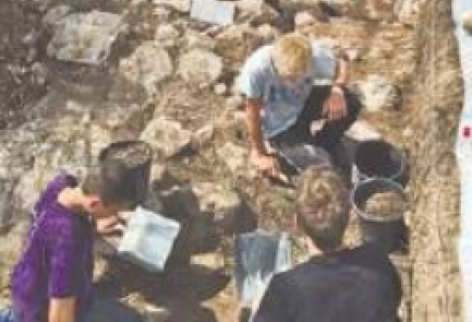 Israeli teens work on an excavation in Ibillin for the Israel Antiquities Authority. Credit: Ofri Lawrence.