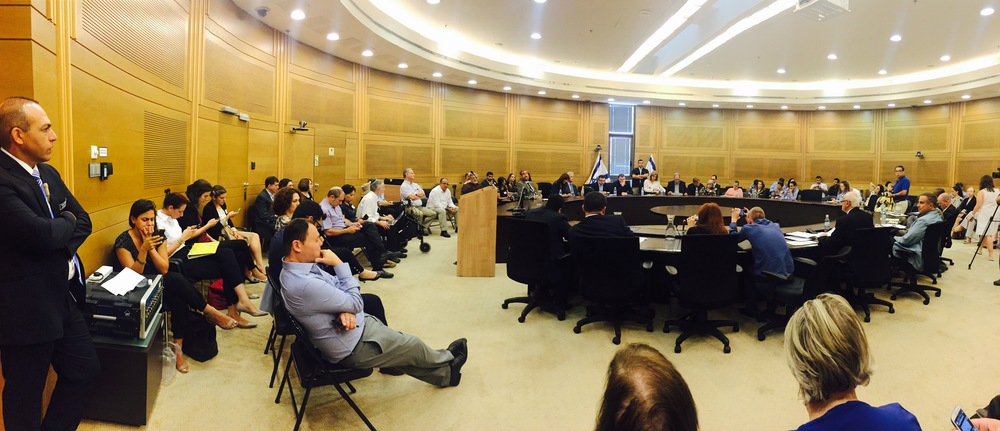 Jewish and Christian Israel supporters discuss anti-BDS efforts in Knesset. Credit: Maayan Jaffe-Hoffman.