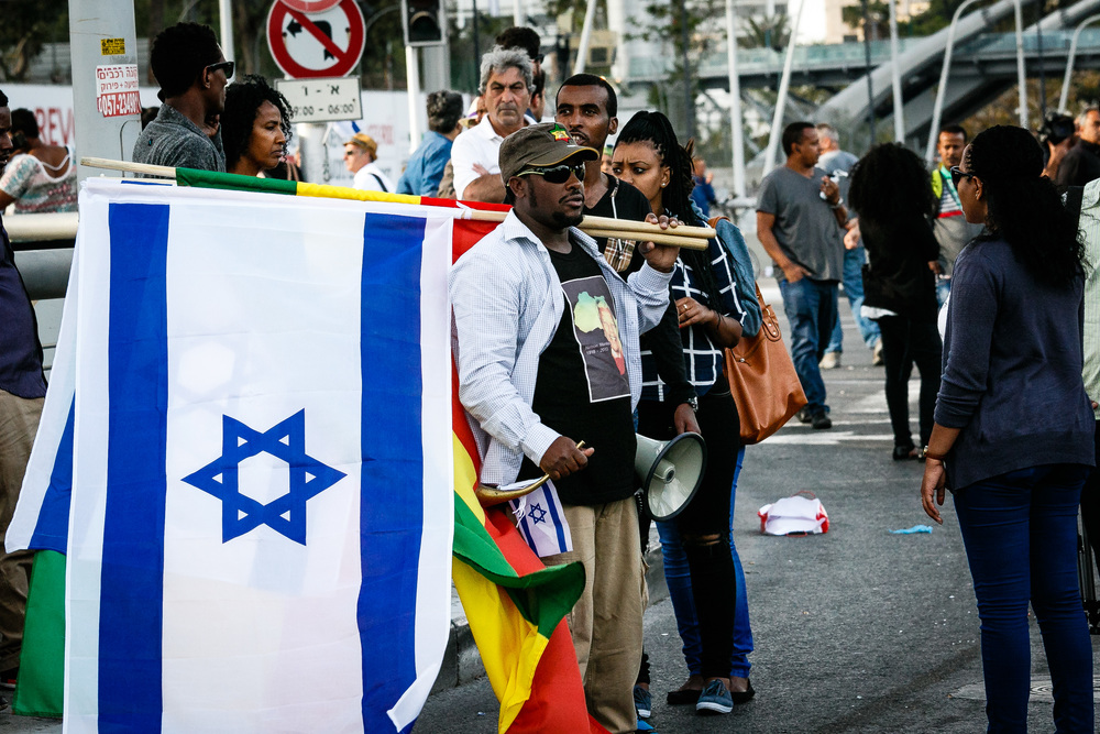Demonstration of Ethiopian residents in Tel-Aviv. Credit: Harvey Sapir via Wikimedia Commons.