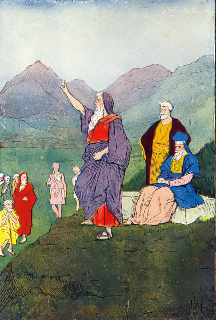 Moses addressing the Children of Israel. Credit: Wikimedia Commons.
