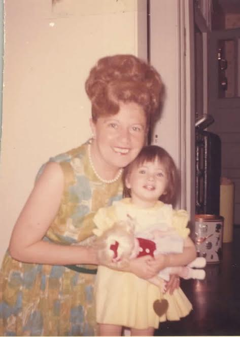 A young Dawn Lerman with her grandmother. Credit: Courtesy Dawn Lerman.