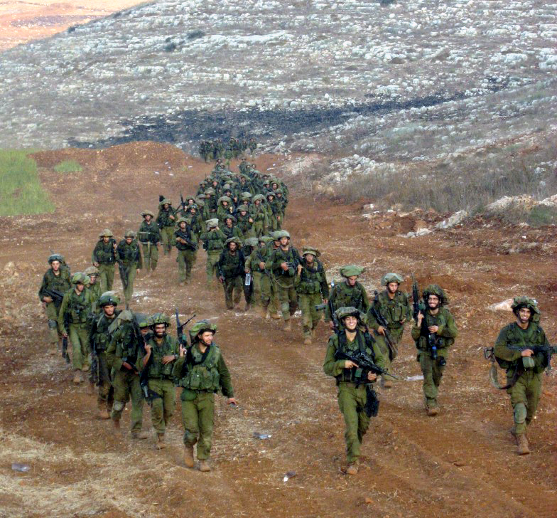 Soldiers from the IDF's Nahal Brigade leave Lebanon at the end of the Second Lebanon War in 2006. Credit: Wikimedia Commons.