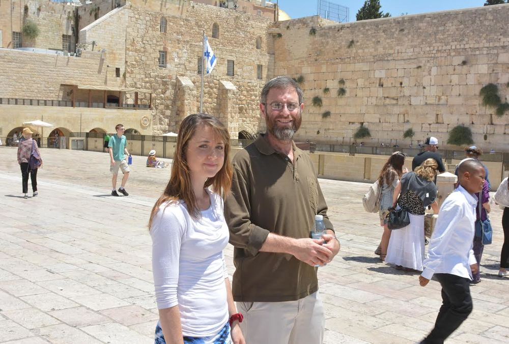 Elie Schiff at the Western Wall in the Old City of Jerusalem. Credit: Nefesh B'Nefesh.