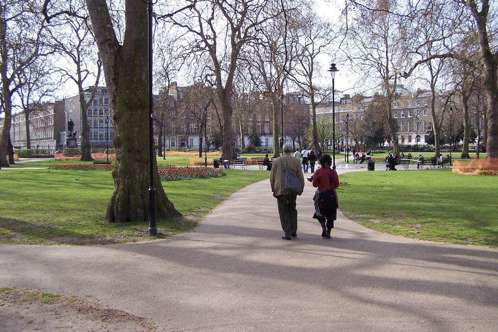 Russell Square in London. Credit: Chris Nyborg via Wikimedia Commons.