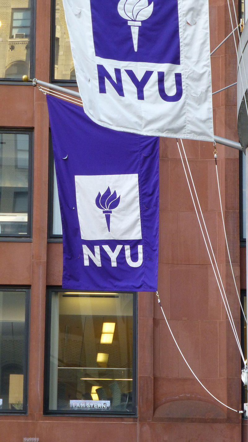 New York University (NYU) banners. Credit: Wikimedia Commons.