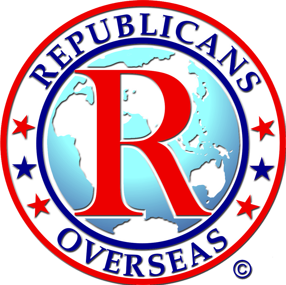 The logo of Republicans Overseas. Credit: Republicans Overseas.