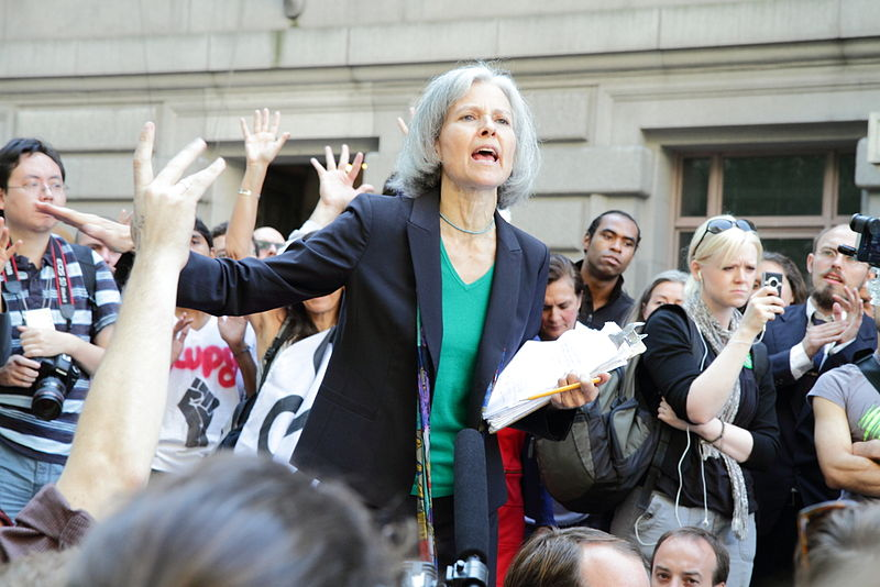 Jill Stein speaking at an Occupy Wall Street rally in 2012. Credit: Wikimedia Commons.