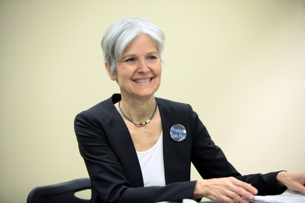 Jill Stein speaking at a Green Party presidential town hall event in Mesa, Arizona in March 2016. Credit: Wikimedia Commons.