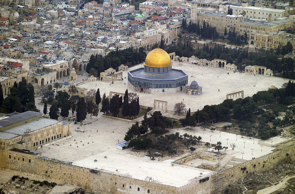Aerial view of the Temple Mount. Credit: Wikimedia Commons.