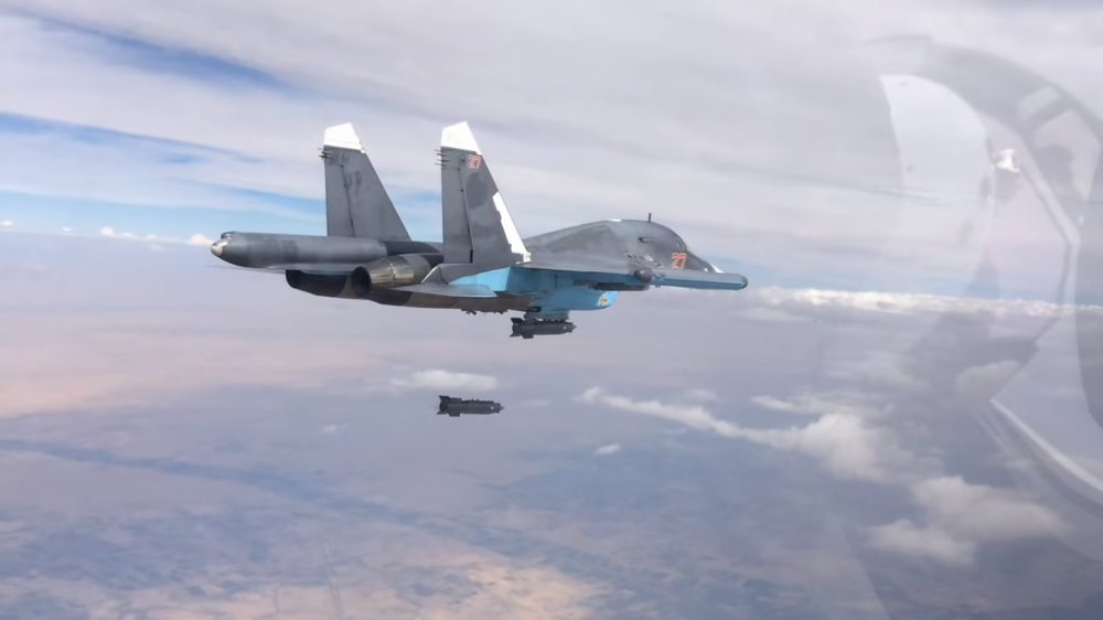 A Russian plane conducting an airstrike in Syria. Credit: The Ministry of Defense of the Russian Federation via Wikimedia Commons.