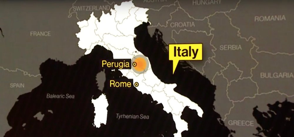 A map showing the epicenter of the 6.2 magnitude earthquake that hit central Italy on Wednesday. Credit: YouTube screenshot.