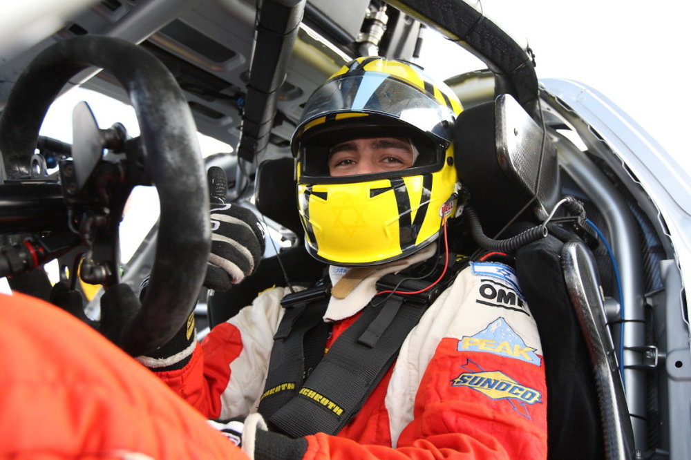 Alon Day inside his race car. Credit: Alon Day.