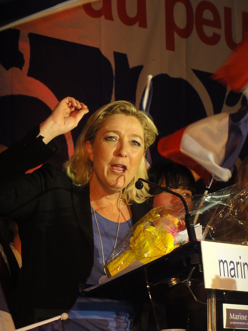 French politician Marine Le Pen, who is the head of the far-right National Front party. Credit: Wikimedia Commons.