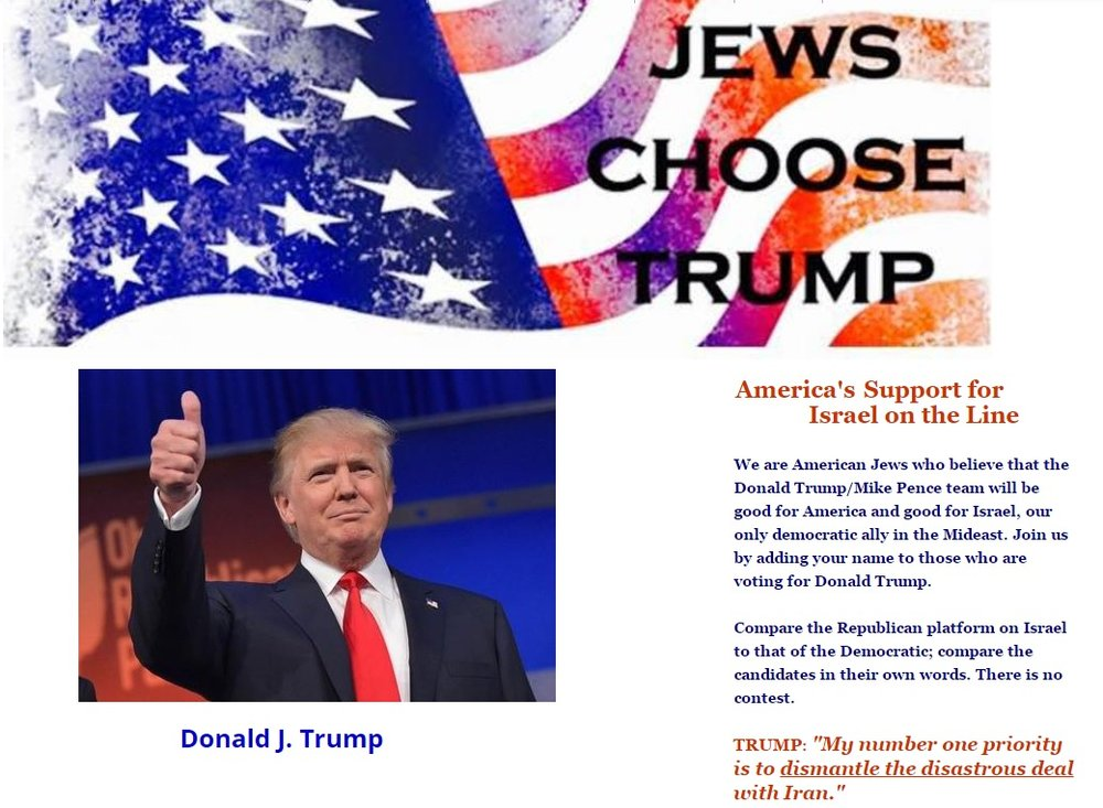 A screenshot of Jewschoosetrump.org. Credit: Screenshot.