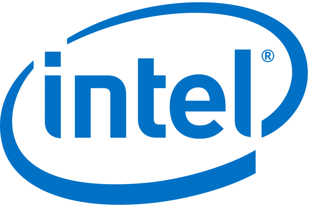 The Intel logo. Credit: Wikimedia Commons.