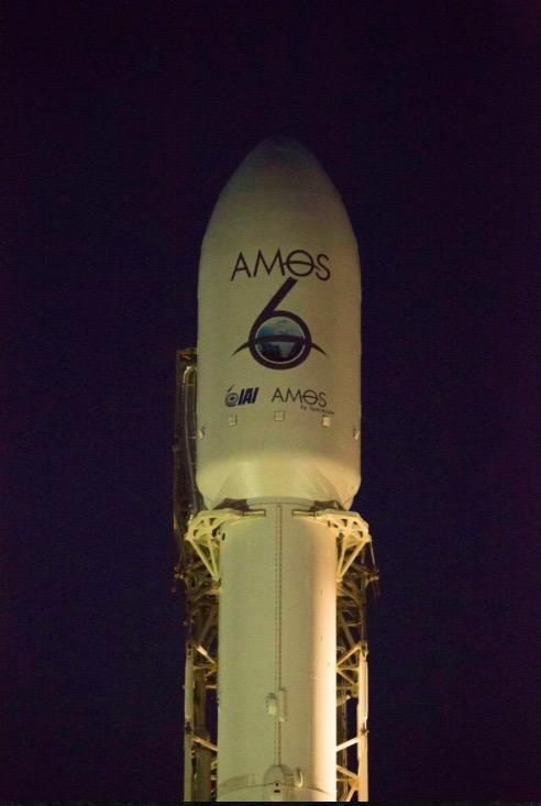 The Amos 6 rocket. Credit: Twitter screenshot.