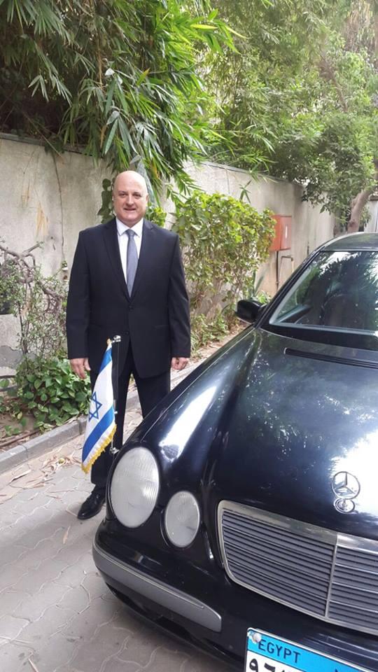 Israeli Ambassador to Egypt David Govrin preparing to present his credentials to Egyptian President Abdel Fattah El-Sisi.