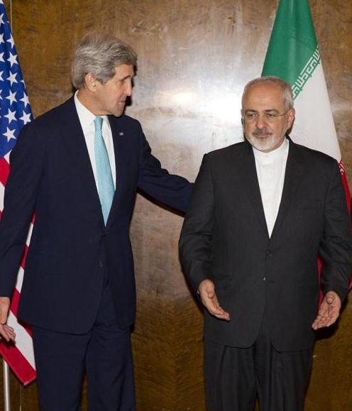 U.S. Secretary of State John Kerry and Iranian Foreign Minister Javad Zarif. Credit: Wikimedia Commons.