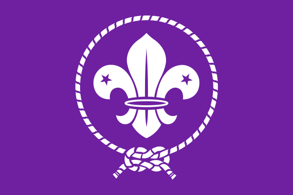 The flag of the World Scout Movement. Credit: Wikimedia Commons.